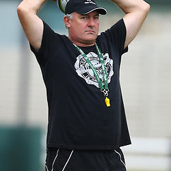 DURBAN, SOUTH AFRICA, Thursday 14, January 2016 - Gary Gold (Sharks Director of Rugby) during The Cell C Sharks Pre Season training Thursday 14th January 2016,for the 2016 Super Rugby Season at Growthpoint Kings Park in Durban, South Africa. (Photo by Steve Haag)<br /> images for social media must have consent from Steve Haag