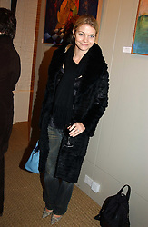JEMMA KIDD at an exhibition of recent work by artist Lance Tilbury held at the Old Imperial Laundry, Warriner Gardens, Battersea, London on 7th December 2004.<br /><br />NON EXCLUSIVE - WORLD RIGHTS