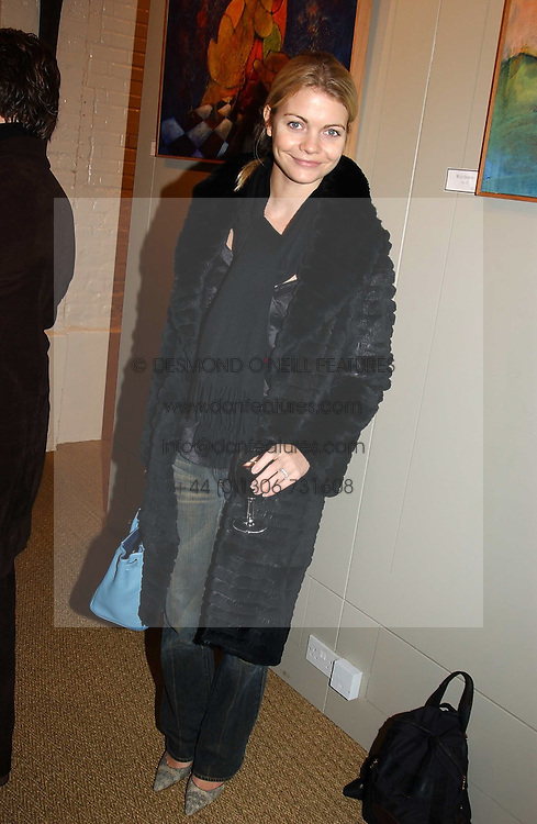 JEMMA KIDD at an exhibition of recent work by artist Lance Tilbury held at the Old Imperial Laundry, Warriner Gardens, Battersea, London on 7th December 2004.<br />