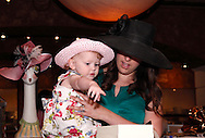 Grace, 23 months and Kelly Geers take a look at silent auction items during the 3rd Annual Crown Jewels of Dayton Derby Day Brunch at Brio Tuscan Grille in The Greene, Saturday, May 5, 2012. Also known as the 'Run for the Pink Roses,' proceeds from this event go to 'further the work of the Kettering Medical Center Foundation's Women's Wellness Fund. The fund provides free screening and diagnostic mammograms, breast ultrasounds and prostheses to uninsured women (and men) in our community.'