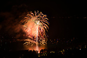July 3 fireworks show at Kings Beach in North Lake Tahoe,. 2018