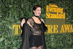 © Licensed to London News Pictures. 13/11/2016. London, UK, Margo Stilley, Evening Standard Theatre Awards, Photo credit: Richard Goldschmidt/LNP