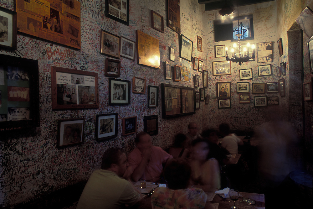 The Bodeguita del Medio restaurant, one of Ernest Hemingway's favourite hangouts from the pre-revolution days.