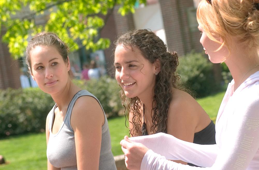 16973New Campus Spring Students Shots on Green 5/6/05..Jenna Ross & Sibel Pistar
