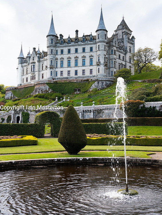 Dunrobin Castle on the North Coast 500 scenic driving route in northern Scotland, UK