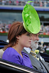 19/06/2009 Ladies Day at Royal Ascot 2009 HRH Princess Beatrice arrives at the Parade Circle in an open top carriage