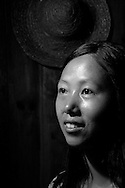 Kaili, Guizhou, China, August 10th 2007: Portrait of a 28 year old Miao woman..Photo: Joseph Feil