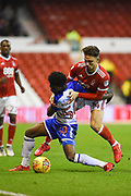 Nottingham Forest midfielder Matty Cash (14) battles with Reading's Omar Richards (50) during the EFL Sky Bet Championship match between Nottingham Forest and Reading at the City Ground, Nottingham, England on 20 February 2018. Picture by Jon Hobley.