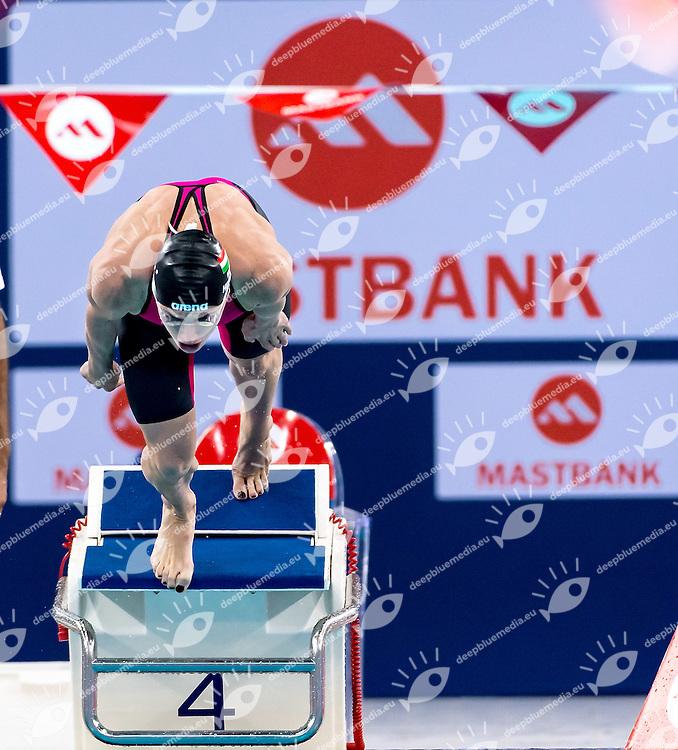 Katinka HOSSZU HUN<br /> 100 Individual Medley women<br /> FINA Mastbank Swimming World Cup 2014<br /> Dubai, UAE  2014  Aug.31 th - Sept.1st<br /> Day1 - Sept. 1st - Heats<br /> Photo G. Scala/Deepbluemedia
