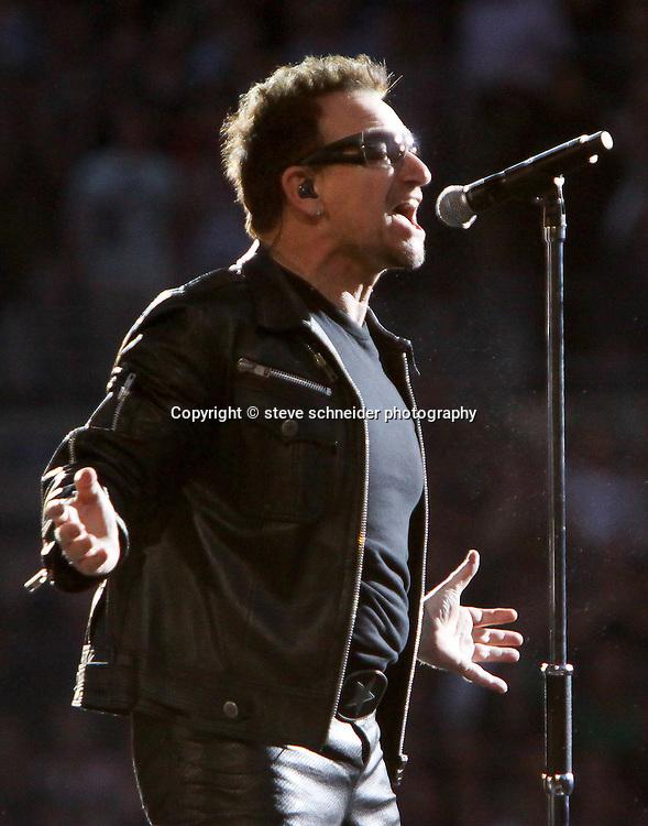 Irish band U2 plays Qwest Field in Seattle, WA on 6-4-2011.