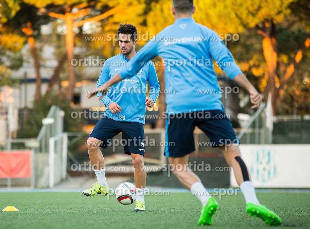 Luka Krajnc of Slovenia during the practice session of Team Slovenia 1 day before EURO 2016 Qualifier Group E match between Slovenia and San Marino, on October 11, 2015 in Riccione, Italy. Photo by Vid Ponikvar / Sportida