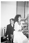 David Bailey; Marie Helvin.  LDC collection.party. 1982. SUPPLIED FOR ONE-TIME USE ONLY> DO NOT ARCHIVE. © Copyright Photograph by Dafydd Jones 248 Clapham Rd.  London SW90PZ Tel 020 7820 0771 www.dafjones.com