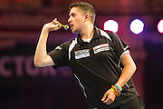 Jamie Lewis during the First Round of the BetVictor World Matchplay Darts at the Empress Ballroom, Blackpool, United Kingdom on 19 July 2015. Photo by Shane Healey.