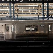 Train to Coney Island. Brooklyn.