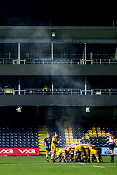 Steam rises as Worcester Cavaliers and Wasps A scrum - Mandatory by-line: Robbie Stephenson/JMP - 16/12/2019 - RUGBY - Sixways Stadium - Worcester, England - Worcester Cavaliers v Wasps A - Premiership Rugby Shield