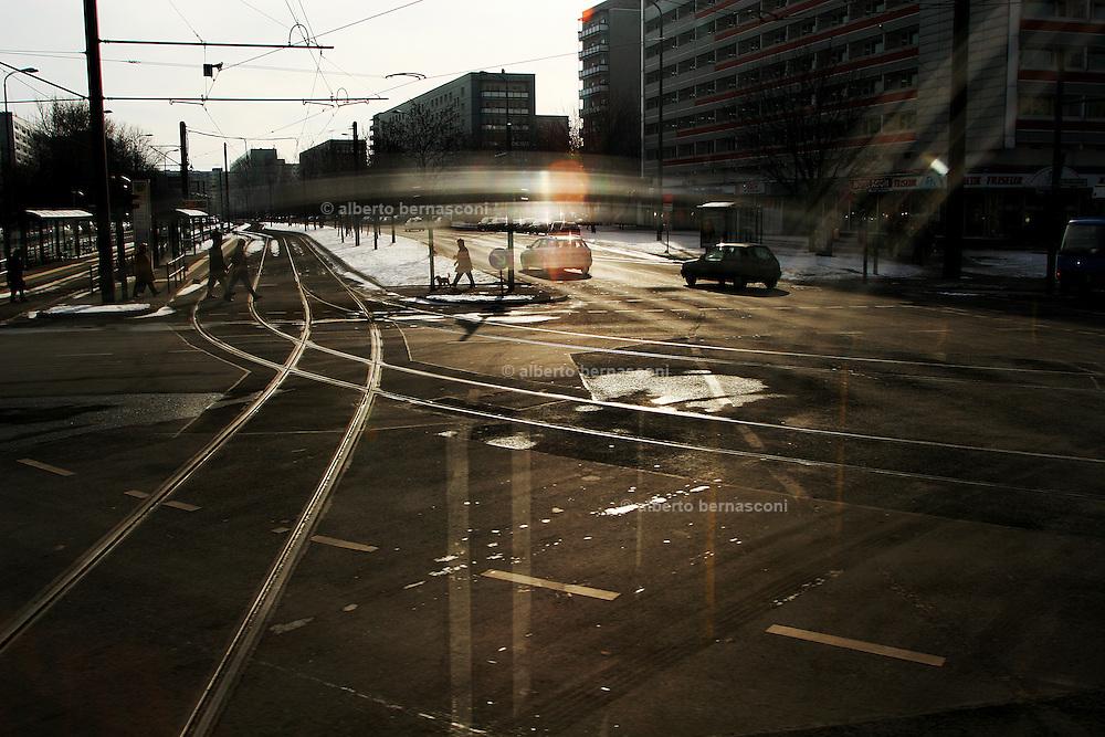 Berlin: crossraod in Berliner Alee