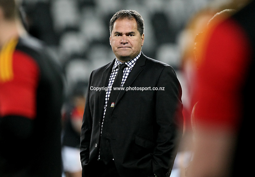 Chiefs head coach Dave Rennie at the Super 15 rugby match, Highlanders v Chiefs, Forsyth Barr Stadium, Dunedin, New Zealand, Friday, June 27, 2014. Photo: Dianne Manson / www.photosport.co.nz