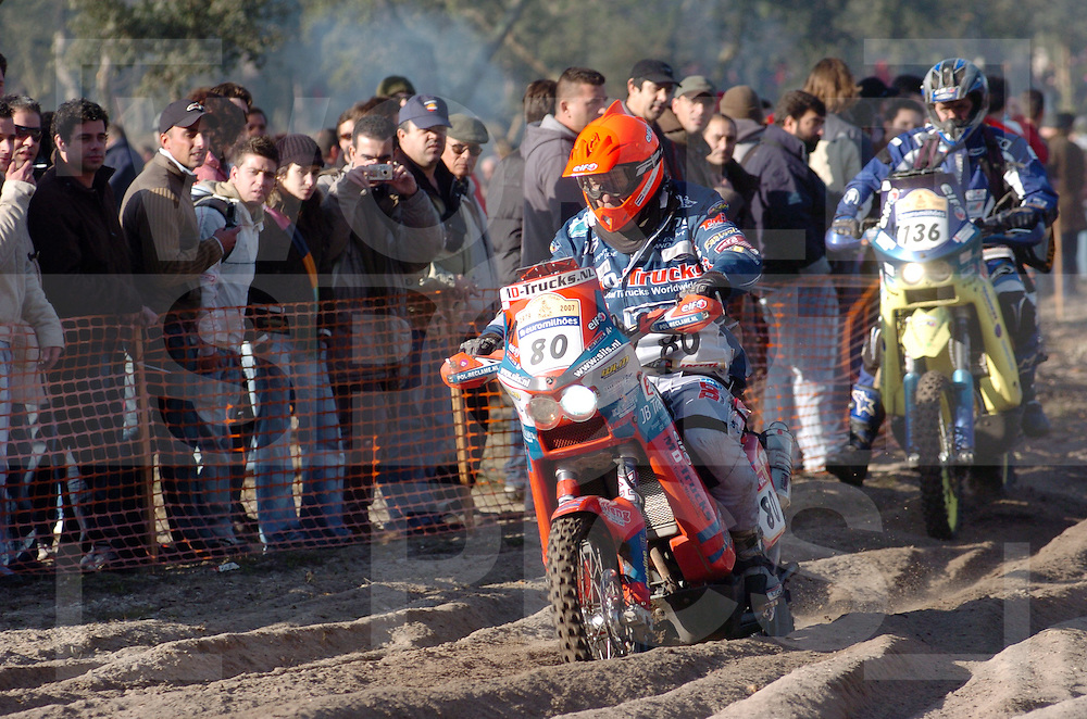 Le Dakar 2007..no: 80  COERSE BOB  KTM  HOL  DUTCH TEAM DAKAR..fotografie frank uijlenbroek©2006 frank uijlenbroek..etappe Lissabon Portimao....070108 Portima Portugal