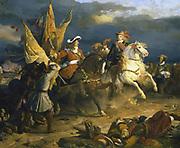 Battle of Villa Viciosa, 11 December 1710. Louis Joseph, Duc de Vendome (1654-1712) victorious against the Austrians. Jean Alaux, Galerie des Batailles, Versailles.