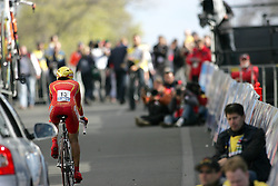 (Geelong, Australia---29 September 2010)  Belen Lopez Morales of Spain powers to the finish in the Elite Women's Time Trial at the 2010 UCI Road World Championships held in Geelong, Victoria, Australia. [2010 Copyright Sean Burges / Mundo Sport Images -- www.mundosportimages.com]