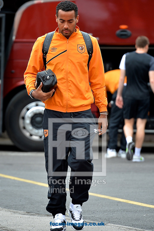 General view of the exterior of the stadium showing Tom Huddlestone of Hull City arriving pictured ahead of the Sky Bet Championship match at the City Ground, Nottingham<br /> Picture by Ian Wadkins/Focus Images Ltd +44 7877 568959<br /> 03/10/2015