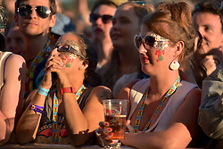 Fans enjoy the evening sunshine  at T in the Park, Strathallan Castle, Auchterarder, 8th July 2016, <br /> (c) Brian Anderson | Edinburgh Elite media