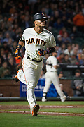 San Francisco Giants left fielder Gorkys Hernandez (66) hits against the Pittsburgh Pirates at AT&T Park in San Francisco, California, on July 25, 2017. (Stan Olszewski/Special to S.F. Examiner)