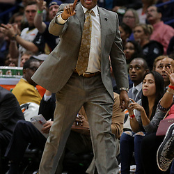 Apr 4, 2018; New Orleans, LA, USA; New Orleans Pelicans head coach Alvin Gentry against the Memphis Grizzlies during the second quarter at the Smoothie King Center. Mandatory Credit: Derick E. Hingle-USA TODAY Sports