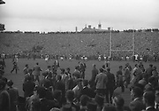 All Ireland Senior Football Final Down vs Kerry..Crowds of Down supporters rush on to the field before the finish of the game..25.09.1960..