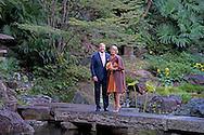 29-10-2014 - TOKIO -  Visit to Buddhist temple king Willem alexander and queen Maxima  they pose in a Japanse garden  during a 3 days State visit of king Willem alexander and queen Maxima to Japan.  COPYRIGHT ROBIN UTRECHT