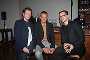 Christopher Kane; Jonathan Saunders; Erdem Moralioğlu, DINNER TO CELEBRATE THE ARTISTS OF FRIEZE PROJECTS AND THE EMDASH AWARD 2012 hosted by ANDREA DIBELIUS founder EMDASH FOUNDATION, AMANDA SHARP and MATTHEW SLOTOVER founders FRIEZE. THE FORMER CENTRAL ST MARTIN'S SCHOOL OF ART AND DESIGN, SOUTHAMPTON ROW, LONDON WC1. 11 October 2012