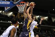 DESCRIZIONE : Torino Coppa Italia Final Eight 2011 Quarti di Finale Fabi Shoes Montegranaro Canadian Solar Virtus Bologna<br /> GIOCATORE : Krsitof Ongenaet Viktor Sanikidze<br /> SQUADRA : Fabi Shoes Montegranaro Candian Solar Virtus Bologna<br /> EVENTO : Agos Ducato Basket Coppa Italia Final Eight 2011<br /> GARA : Fabi Shoes Montegranaro Canadian Solar Virtus Bologna<br /> DATA : 10/02/2011<br /> CATEGORIA : rimbalzo difesa stoppata<br /> SPORT : Pallacanestro<br /> AUTORE : Agenzia Ciamillo-Castoria/ElioCastoria<br /> Galleria : Final Eight Coppa Italia 2011<br /> Fotonotizia : Torino Coppa Italia Final Eight 2011 Quarti di Finale Fabi Shoes Montegranaro Canadian Solar Virtus Bologna<br /> Predefinita :