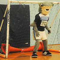 Sledge tends the goal during the Wilmington Hammerheads' Youth Outreach Indoor Friendly Tournament Sunday January 11, 2015 at the MLK Center in Wilmington, N.C. (Jason A. Frizzelle)