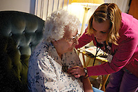 Betty Mylcraine has her vitals checked by Shannon Gisclair, a registered nurse with Panhandle Health District, during a home healthcare visit Tuesday.