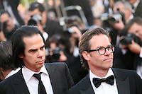 Nick Cave and Guy Pearce at the gala screening of Lawless at the 65th Cannes Film Festival. The screenplay for the film Lawless was written by Nick Cave and Directed by John Hillcoat. Saturday 19th May 2012 in Cannes Film Festival, France.