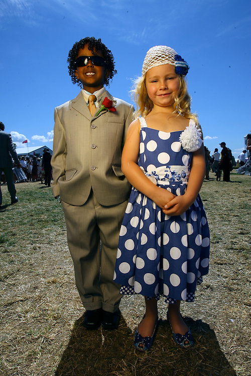 Flemmington, Emirates Stakes Day and Family Day at the races. Kids Fashions on the Field, Finalists Robson B. Deme 6ys  who won last year  and Kodi Buckley 6yrs who came second this year  parents are owners of Racehorse Miss Andretti   Pic By Craig Sillitoe  10/11/2007 melbourne photographers, commercial photographers, industrial photographers, corporate photographer, architectural photographers, This photograph can be used for non commercial uses with attribution. Credit: Craig Sillitoe Photography / http://www.csillitoe.com<br />