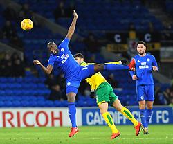 Souleymane Bamba of Cardiff City competes for the highball -Mandatory by-line: Nizaam Jones/JMP - 01/12/2017 -  FOOTBALL - Cardiff City Stadium- Cardiff, Wales-  Cardiff City v Norwich City- Sky Bet Championship