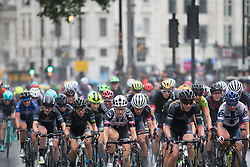Leah Kirchmann (CAN) of Team Sunweb leads the peloton in the first lap of the Prudential Ride London Classique - a 66 km road race, starting and finishing in London on July 29, 2017, in London, United Kingdom. (Photo by Balint Hamvas/Velofocus.com)