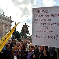 Manifestazione contro il Sindaco Gianni Alemanno
