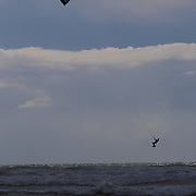 Cornish white water Kite Surfing