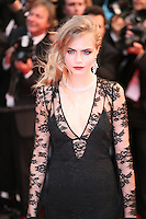 Cara Delevingne attending the gala screening of The Great Gatsby at the Cannes Film Festival on 15th May 2013, Cannes, France.