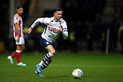 Preston North End midfielder Alan Browne (8) on the run during the EFL Sky Bet Championship match between Preston North End and Stoke City at Deepdale, Preston, England on 21 August 2019.