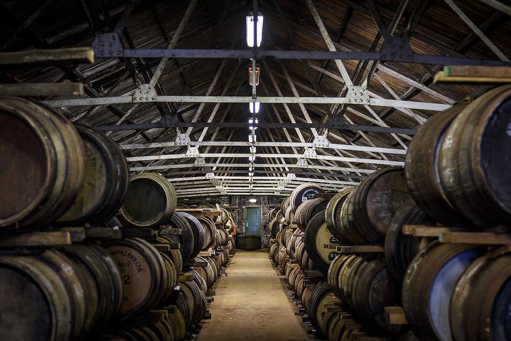 Barrels in a bond warehouse at Ardbeg Distillery in Port Ellen, Isle of Islay, Scotland, July 15, 2015. Gary He/DRAMBOX MEDIA LIBRARY