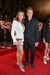 JAMES CRACKNELL and BEVERLEY TURNER at the GQ Men of The Year Awards 2016 in association with Hugo Boss held at Tate Modern, London on 6th September 2016.