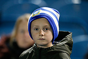 A young fan of Sheffield Wednesday during the EFL Sky Bet Championship match between Sheffield Wednesday and Stoke City at Hillsborough, Sheffield, England on 22 October 2019.
