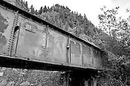Train bridge at Multnomah Falls - OR