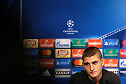 Paris Saint Germain's Italian midfielder Marco Verratti attends the Paris Saint-Germain press conference before the UEFA Champions League football match between Paris Saint-Germain and Bayern Munich on September 26, 2017 at the Parc des Princes stadium in Paris, France - Photo Benjamin Cremel / ProSportsImages / DPPI