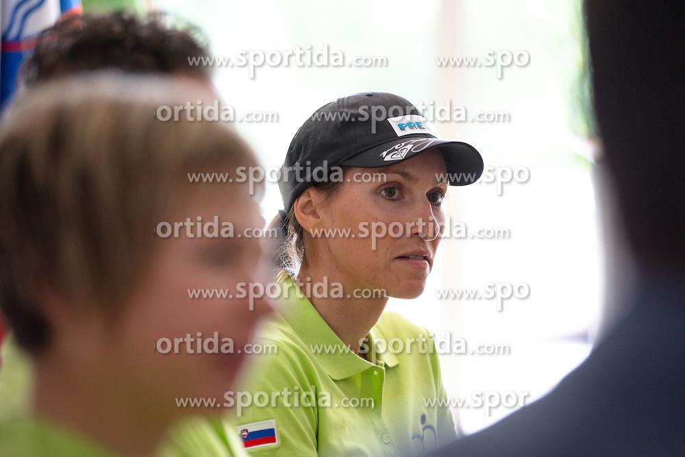 Blaza Klemencic at press conference of team Slovenia before WC Masters Hajfell in Norway on August 25, 2014 in Hala Tivoli, Ljubljana, Slovenia. Photo by Matic Klansek Velej / Sportida