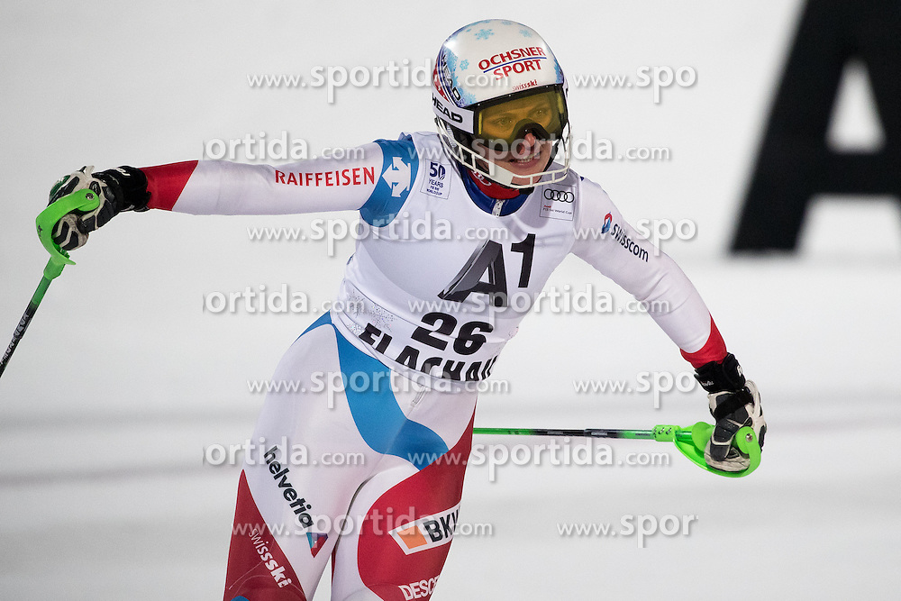 10.01.2017, Hermann Maier Weltcupstrecke, Flachau, AUT, FIS Weltcup Ski Alpin, Flachau, Slalom, Damen, 2. Lauf, im Bild Denise Feierabend (SUI) // Denise Feierabend of Switzerland reacts after her 2nd run of ladie's Slalom of FIS ski alpine world cup at the Hermann Maier Weltcupstrecke in Flachau, Austria on 2017/01/10. EXPA Pictures © 2017, PhotoCredit: EXPA/ Johann Groder