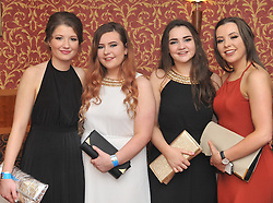 Pictured at the recent Tranistion Year Ball held at Hotel Westport were Roisin Smyth, Jessica Sheridan, Roisin Hogan and Mairead Dever.<br /> Pic Conor McKeown